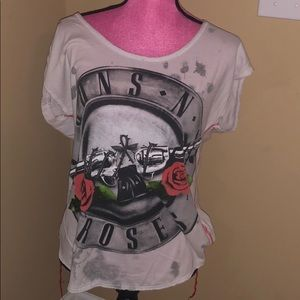 Rock & Republic Guns & Roses scoop neck shirt